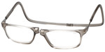 Clic Designer Eyeglasses Executive Style in Smoke :: Custom Left & Right Lens