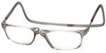 Clic Designer Eyeglasses Executive Style in Smoke :: Custom Left & Right Lens