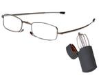 OPTI+ Designer Folding Reading Glasses OPRG-3-3 in Matte-Gunmetal