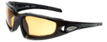 Harley-Davidson Designer Sunglasses HDV009-BLK14 in Black with Orange Lens