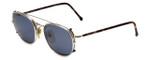 Giorgio Armani Designer Eyeglasses 171-707 48mm in Silver with Clip-On Sunglasses :: Rx Bi-Focal