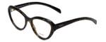 Prada Designer Eyeglasses VPR25R-2AU1O1 in Tortoise 52mm :: Custom Left & Right Lens