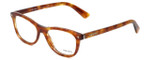 Prada Designer Eyeglasses VPR05R-4BW1O1 in Light Havana 51mm :: Rx Single Vision