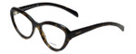 Prada Designer Eyeglasses VPR25R-2AU1O1 in Tortoise 52mm :: Rx Single Vision