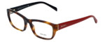 Prada Designer Eyeglasses VPR18O-TKR1O1 in Havana Red 52mm :: Progressive