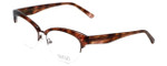 Badgley Mischka Designer Eyeglasses Vivianna in Brown-Horn 54mm :: Progressive