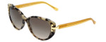 Tory Burch Designer Sunglasses TY7092 in White Havana Frame & Brown Gradient Lens