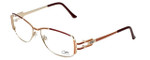 Cazal Designer Eyeglasses 1084-001 in Gold-Red 56mm :: Custom Left & Right Lens