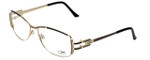 Cazal Designer Eyeglasses 1084-003 in Gold-Black 56mm :: Custom Left & Right Lens