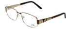 Cazal Designer Eyeglasses 1092-003 in Gold-Brown 55mm :: Progressive