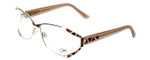 Cazal Designer Reading Glasses 1098-004 in Gold-Brown 55mm