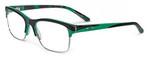 Oakley Designer Eyeglasses Allegation OX1090-0552 in Green Tortoise 52mm :: Rx Single Vision