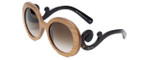 Prada Designer Sunglasses PR27RS-IAM6S1 in Tortoise with Wood & Amber Gradient Lens