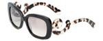 Prada Designer Sunglasses PR27OS-UAO4O0 in Black & Amber Gradient Lens