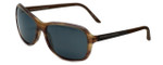 Porsche Designer Sunglasses P8558-B in Brown-Striped with Grey Lens