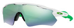 Oakley Designer Sunglasses Radar EV Path OO9208-4838 in White with Jade Iridium Lens