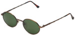 REVO Designer Reading Glasses 1210-034 in Bronze with Green Lens