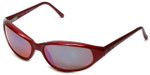 REVO Designer Reading Glasses 1007-060 in Red with Blue Mirror Lens