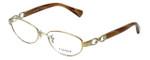 Coach Designer Eyeglasses Stacy HC5062-9206 in Gold Brown Horn 52mm :: Progressive