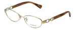 Coach Designer Eyeglasses Stacy HC5062-9206 in Gold Brown Horn 52mm :: Rx Bi-Focal