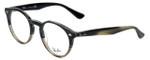 Ray-Ban Designer Eyeglasses RB2180V-5540 in Grey-Horn 49mm :: Custom Left & Right Lens