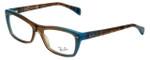 Ray-Ban Designer Eyeglasses RB5255-5490 in Azure-Blue-Brown 51mm :: Custom Left & Right Lens