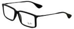 Ray-Ban Designer Eyeglasses RB7043-5364 in Rubber-Black 54mm :: Custom Left & Right Lens