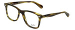 Ray-Ban Designer Eyeglasses RB5317-5385 in Striped-Green-Havana 52mm :: Rx Single Vision