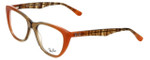Ray-Ban Designer Eyeglasses RB5322-5487 in Peach-Brown 53mm :: Rx Single Vision