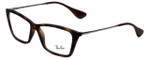 Ray-Ban Designer Eyeglasses Shirley RB7022-5365 in Rubber-Havana 54mm :: Rx Single Vision