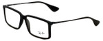 Ray-Ban Designer Eyeglasses RB7043-5364 in Rubber-Black 54mm :: Rx Single Vision