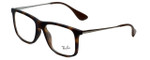 Ray-Ban Designer Eyeglasses RB7054F-5365 in Rubber-Havana 53mm :: Rx Single Vision