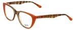 Ray-Ban Designer Eyeglasses RB5322-5487 in Peach-Brown 53mm :: Progressive
