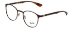 Ray-Ban Designer Eyeglasses RB6355-2758 in Matte-Brown 47mm :: Progressive