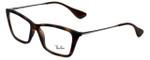 Ray-Ban Designer Eyeglasses Shirley RB7022-5365 in Rubber-Havana 54mm :: Progressive
