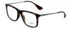 Ray-Ban Designer Eyeglasses RB7054F-5365 in Rubber-Havana 53mm :: Progressive