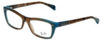 Ray-Ban Designer Eyeglasses RB5255-5490 in Azure-Blue-Brown 51mm :: Rx Bi-Focal