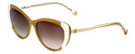 Carolina Herrera Designer Sunglasses SHE648-0GA9 in Melon-White with Amber Gradient Lens