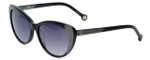 Carolina Herrera Designer Sunglasses SHE648-0T29 in Black Grey Gradient Lens