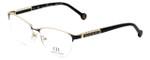 Carolina Herrera Designer Eyeglasses VHE079K-0SNQ in Black-Ivory 53mm :: Rx Single Vision