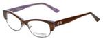 Corinne McCormack Designer Eyeglasses Delancey in Stripe-Demi 53mm :: Custom Left & Right Lens