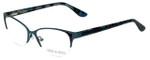 Corinne McCormack Designer Eyeglasses Gramercy in Teal 52mm :: Progressive