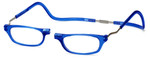 Clic Magnetic Eyewear XXL Fit Original Style in Blue :: Custom Left & Right Lens