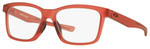 Oakley Designer Eyeglasses Fenceline OX8069-1053 in Frosted-Red 53mm :: Rx Single Vision