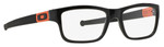 Oakley Designer Eyeglasses Marshal OX8034-0753 in Black 53mm :: Progressive