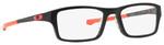 Oakley Designer Eyeglasses Chamfer OX8039-0751 in Black-Neon-Red 51mm :: Rx Bi-Focal