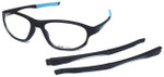 Oakley Designer Eyeglasses Crosslink OX8048-0156 in Satin-Black 56mm :: Rx Bi-Focal