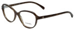 Chanel Designer Reading Glasses 3316-1514 in Brown-Stripe 52mm