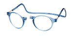 Clic Magnetic Eyewear Regular Fit Brooklyn in Blue Jeans :: Progressive
