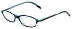 Adrienne Vittadini Designer Eyeglasses AV7019-622 in Black-Blue 49mm :: Custom Left & Right Lens